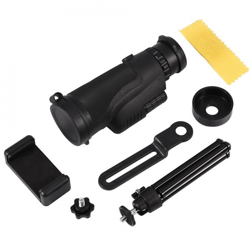 ... Telepon Seluler 10X Zoom Teleskop Monokuler Optik Lensa HD dengan Dudukan Tripod Telepon Klip-Intl