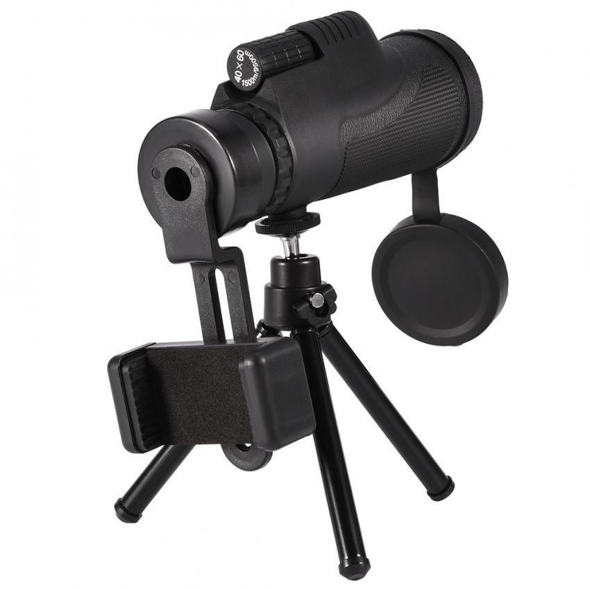 Detail Gambar Telepon Seluler 10X Zoom Teleskop Monokuler Optik Lensa HD dengan Dudukan Tripod Telepon Klip-Intl Terbaru