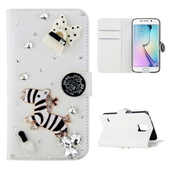 Moonmini Case untuk iPhone X Bling Intan Permata Tiruan PU Dompet Kulit Case Flip Kartu Berdiri