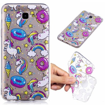Moonmini Case For Samsung Galaxy J7 Prime Ultra-thin Back Case Printed Clear Design Soft