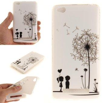 Moonmini Case untuk Xiaomi Redmi 4A Ultra Slim Lembut TPU PELINDUNG Belakang-Dandelion Pasangan-