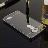 ... Moonmini Hard PC Mirror Metal Frame Bumper Case for LG V10 (Black) - 5