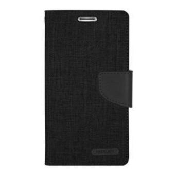 MR Mercury Case zagbox samsung j1 ace j110 Goospery Canvas Diary Case - hitam