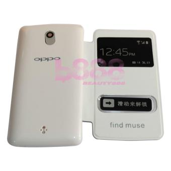 MR Oppo Find Muse R821 Flip Cover Oppo R821 / Leather Case / Sarung Case /