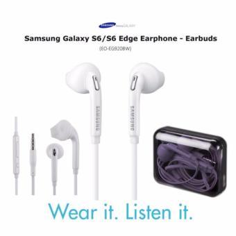 MR Samsung Handsfree Samsung Galaxy S6 EG920 Headset Earphone Original All Phone Model Stereo mp3 - White Putih ...