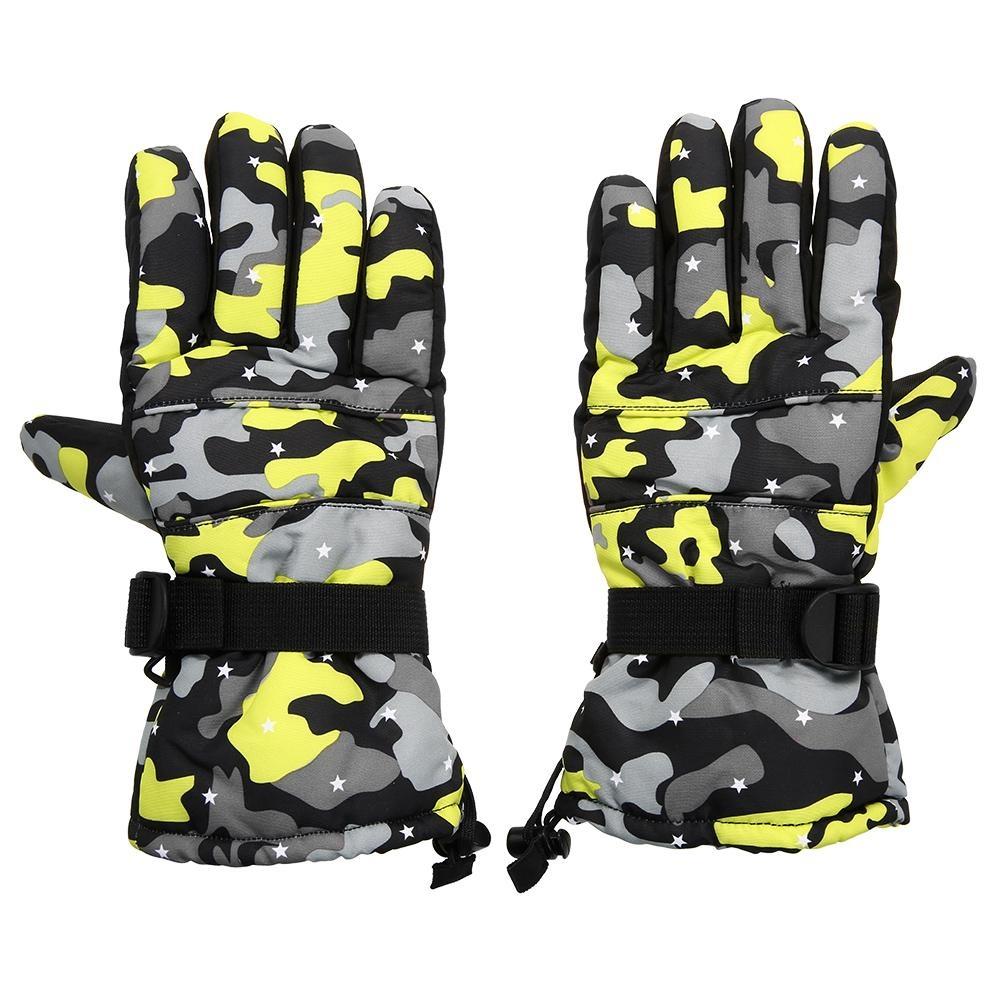 Fitur Pria Wanita Musim Dingin Hitam Windproof Sport Touchscreen Sarung Tangan Hiking Waterproof Hangat Lembut Dewasa Ski Olahraga Menjalankan