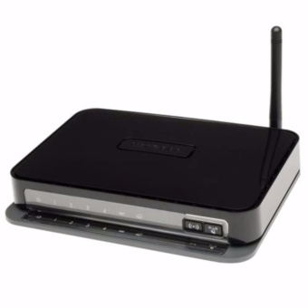 Netgear DGN1000 Wireless-N 150 Router With ADSL2/2+ Splitter - Black Hitam