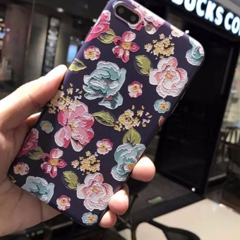 Baru 3D Stereo Relief Phone Case untuk Apple Iphone 6 Plus Case Fashion Pola untuk IPhone 6 S Plus Case -Intl