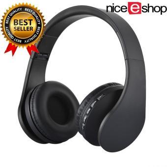niceEshop Bluetooth nirkabel Stereo Headphone ROPS EDR alat pendengar mikrofon MP3 FM headset untuk ponsel pintar