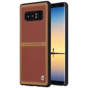 NILLKIN Burt's Series untuk Samsung Galaxy Note 8 Gaya Bisnis Permukaan Kulit Pelindung Case Kembali Cover