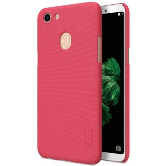 Nillkin Frosted Shield Hard Case Oppo F5 - Merah + Free Nillkin Screen Protector