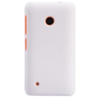 Nillkin Frosted Shield Hard Case Original For Nokia Lumia 530 - Putih + Free Screen Protector