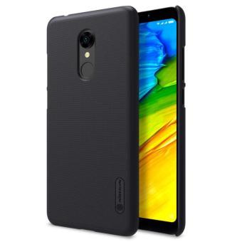 Nillkin Frosted Shield Hard Case Xiaomi Redmi 5 - Hitam + Free Nillkin Screen Protector