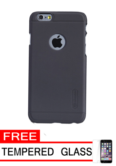 Nillkin Frosted Shield Hardcase for Apple iPhone 6 Plus - Black + Free Tempered Glass