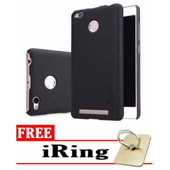 Nillkin Frosted Shield Hardcase for Xiaomi Redmi 3s Pro/Prime - Black + Free iRing
