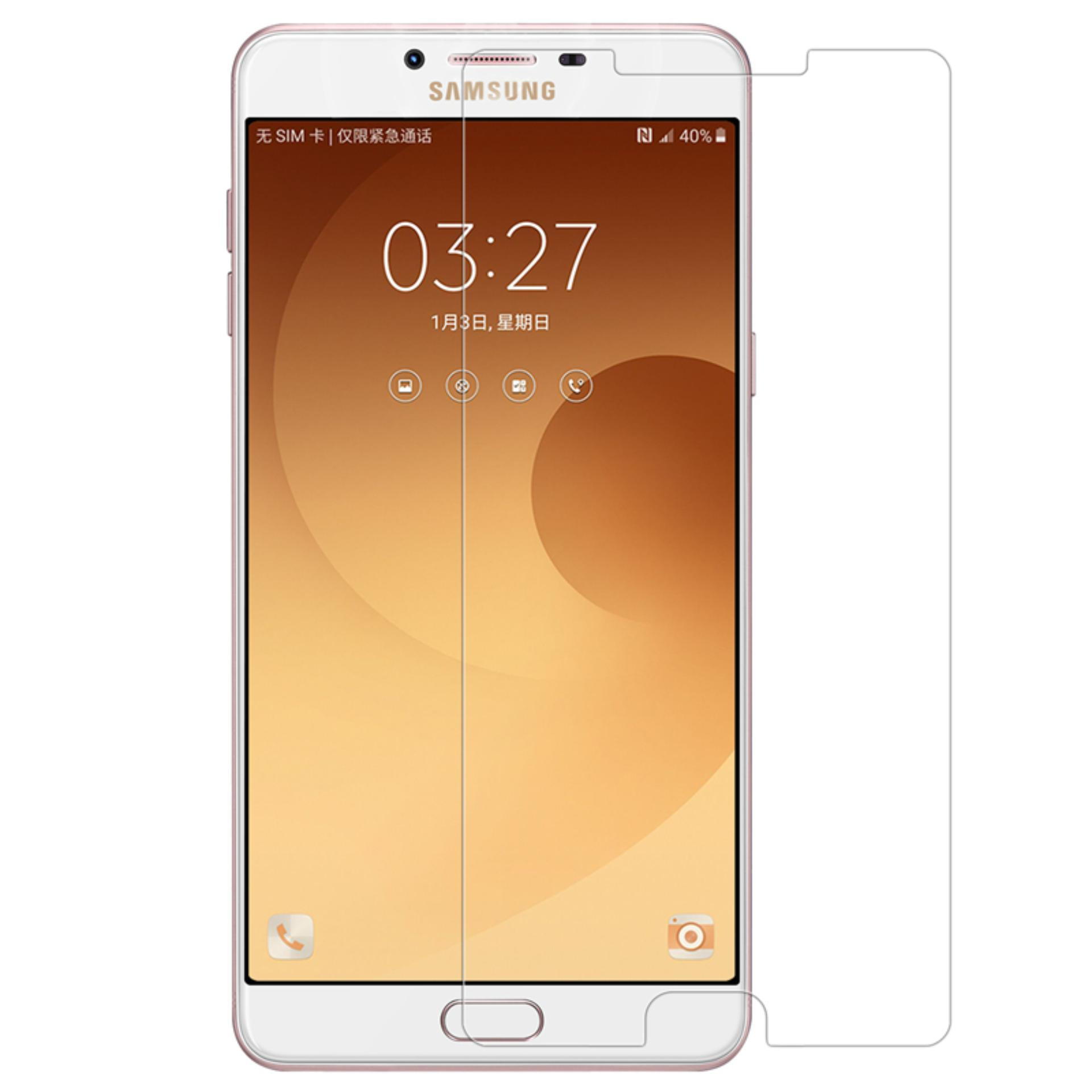 Vn Samsung Galaxy C9 / Pro Tempered Glass 9H Screen Protector 0.32mm - Transparan .