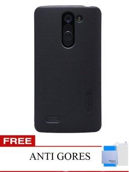 Nillkin Super Frosted Shield Hardcase for LG L Bello D335 - Hitam + Gratis Anti Gores