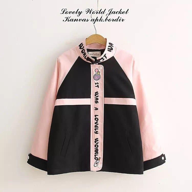 OEM Loveli Word Kanvas Sweater Jacket Hangat Pakaian Wanita Muslim Modern Fashion Atasan Cewek Hijab Muslimah