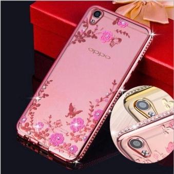 OPPO A37 Mewah Diamond Bunga Secret Garden Soft TPU Case-Intl