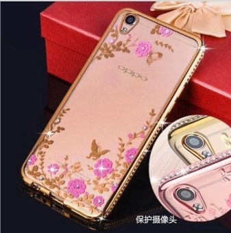 OPPO A57 Luxury Diamond Flowers Secret Garden Soft TPU Case - intl