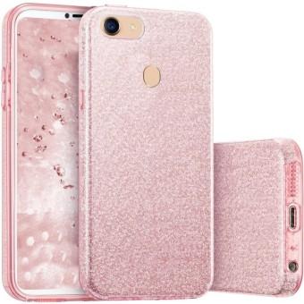 OPPO F5 Case Qzhi Mewah Glitter Bling Berkilau Pelindung Ponsel Desainer [Potongan Pas Badan Keras