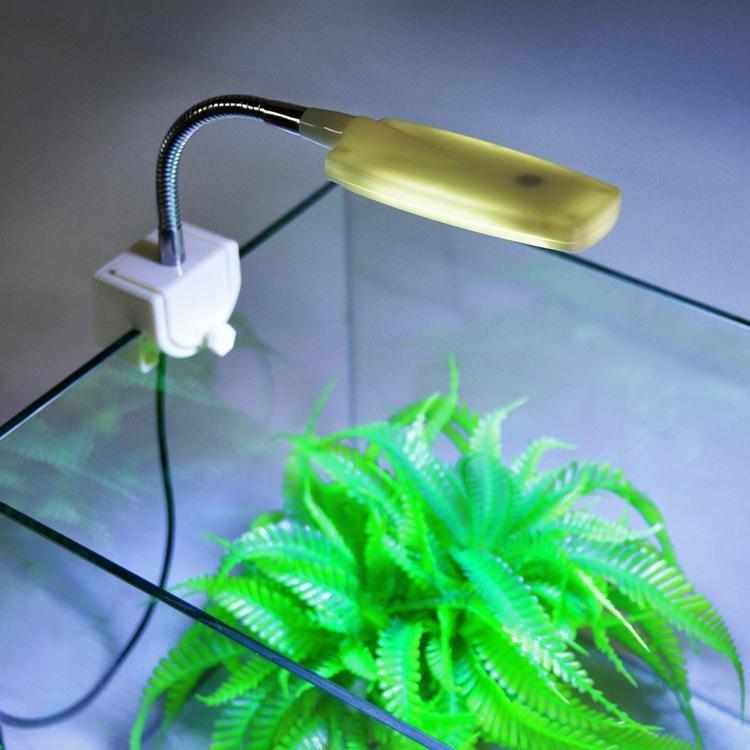 Oscar Store Perlengkapan PET MINI Aquarium Fish Tank LED Light Terdistorsi Desk Lamp Fleksibel LUMEN Putih
