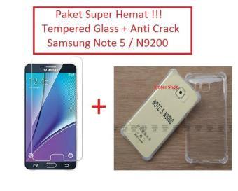 [PAKET] Anti Crack / Case + Tempered Glass Samsung Note 5
