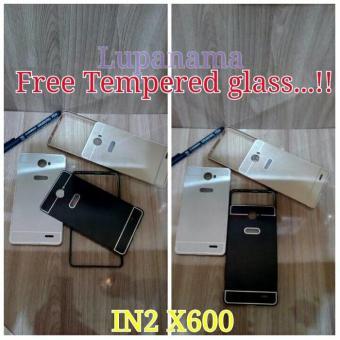 Paket Bumper Case Infinix Note2 X600 Note 2 X600 Free Tempered Glass