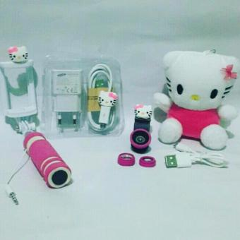 Paket Irit Special Hello Kity 4in ( Powerbank + Fisheye + Charger + Tongsis )