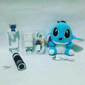 Paket Special Karakter Stitch 3in ( Powerbank Boneka + Charger + Tongsis )