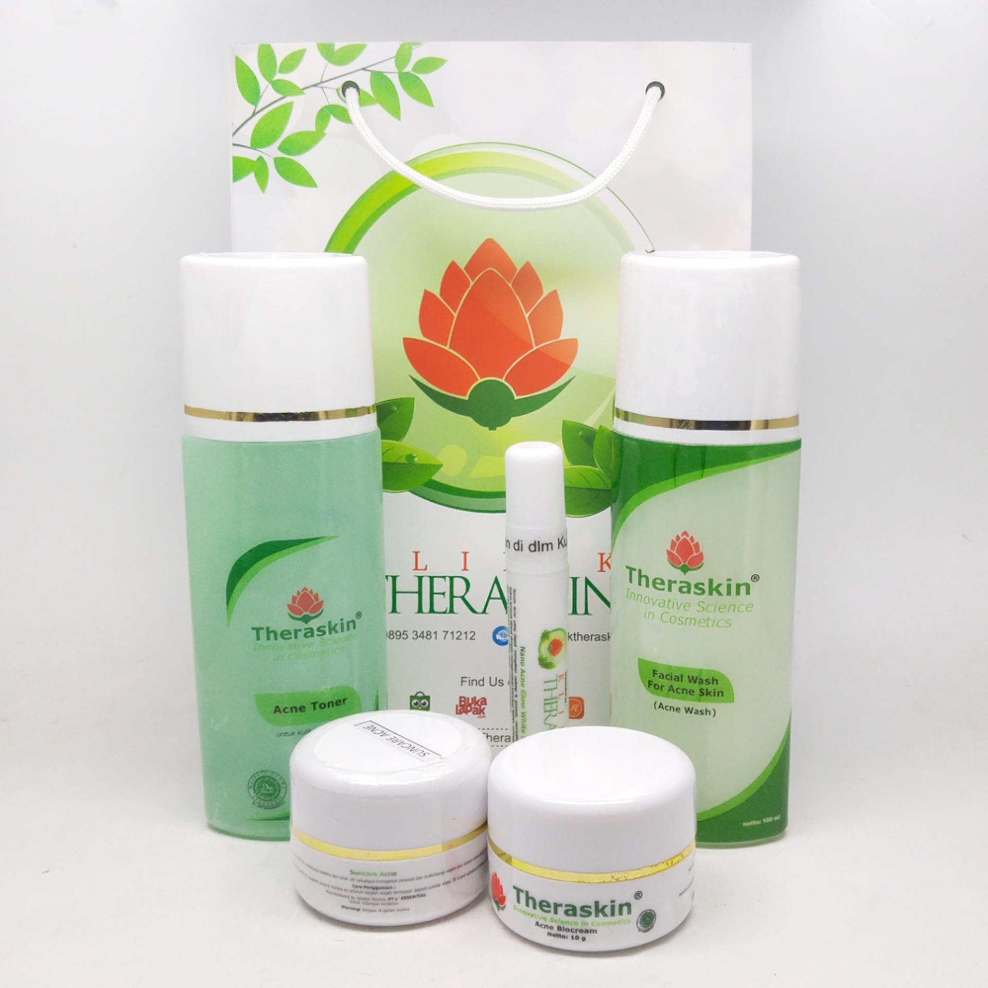 Fitur Theraskin Acne Glow Step 3 Paket Pasca Serum Vit C Khusus Jerawat Ringan Dan Sedang Untuk Kulit Normal