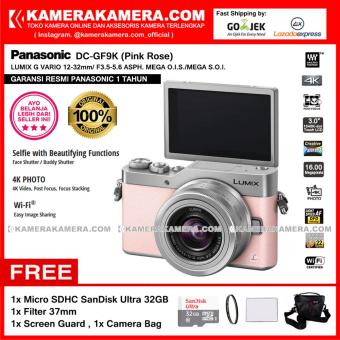 Panasonic DC-GF9K Pink Rose 4K Mirrorless Camera GF9 Post Focus 16MP (Garansi Resmi) Free MicroSD SanDisk Ultra 32GB + Screen Guard + Filter 37mm + Camera Bag
