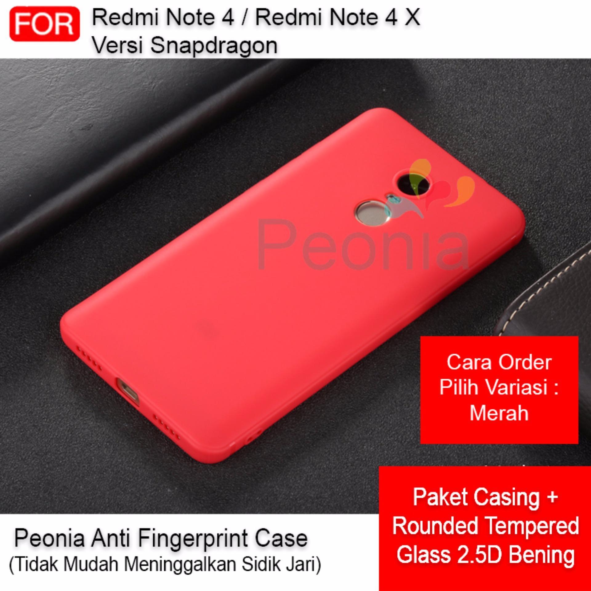 Discount Peonia Anti Fingerprint Premium Quality Grade A Ultraslim Hybrid Case for Xiaomi Redmi Note