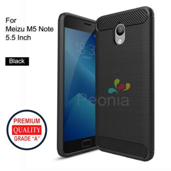Peonia Carbon Shockproof Hybrid Premium Quality Grade A Case for Meizu M5 Note 5.5 Inch - Hitam