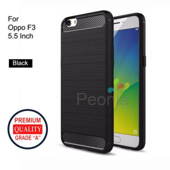 Peonia Carbon Shockproof Hybrid Premium Quality Grade A Case for Oppo F3 5.5 Inch