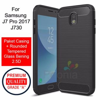 Peonia Carbon Shockproof Hybrid Premium Quality Grade A Case for Samsung Galaxy J7 Pro 2017 (