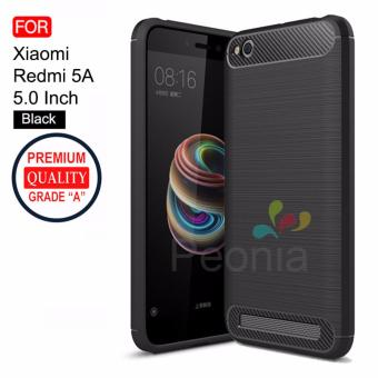 Peonia Carbon Shockproof Hybrid Premium Quality Grade A Case for Xiaomi Redmi 5A 5.0 Inch