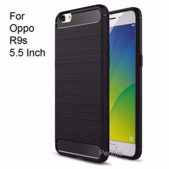 Peonia Carbon Shockproof Hybrid Premium Quality Grade A Case for Oppo R9s (5.5 Inch)