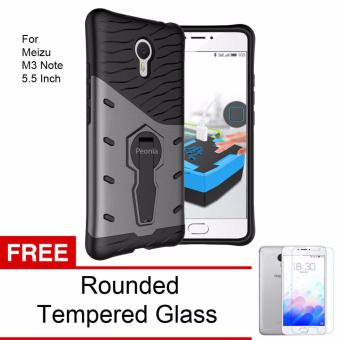 Peonia Sniper 360 Standing Rotary Slim Armor Case for Meizu M3 Note 5.5inch - Grey