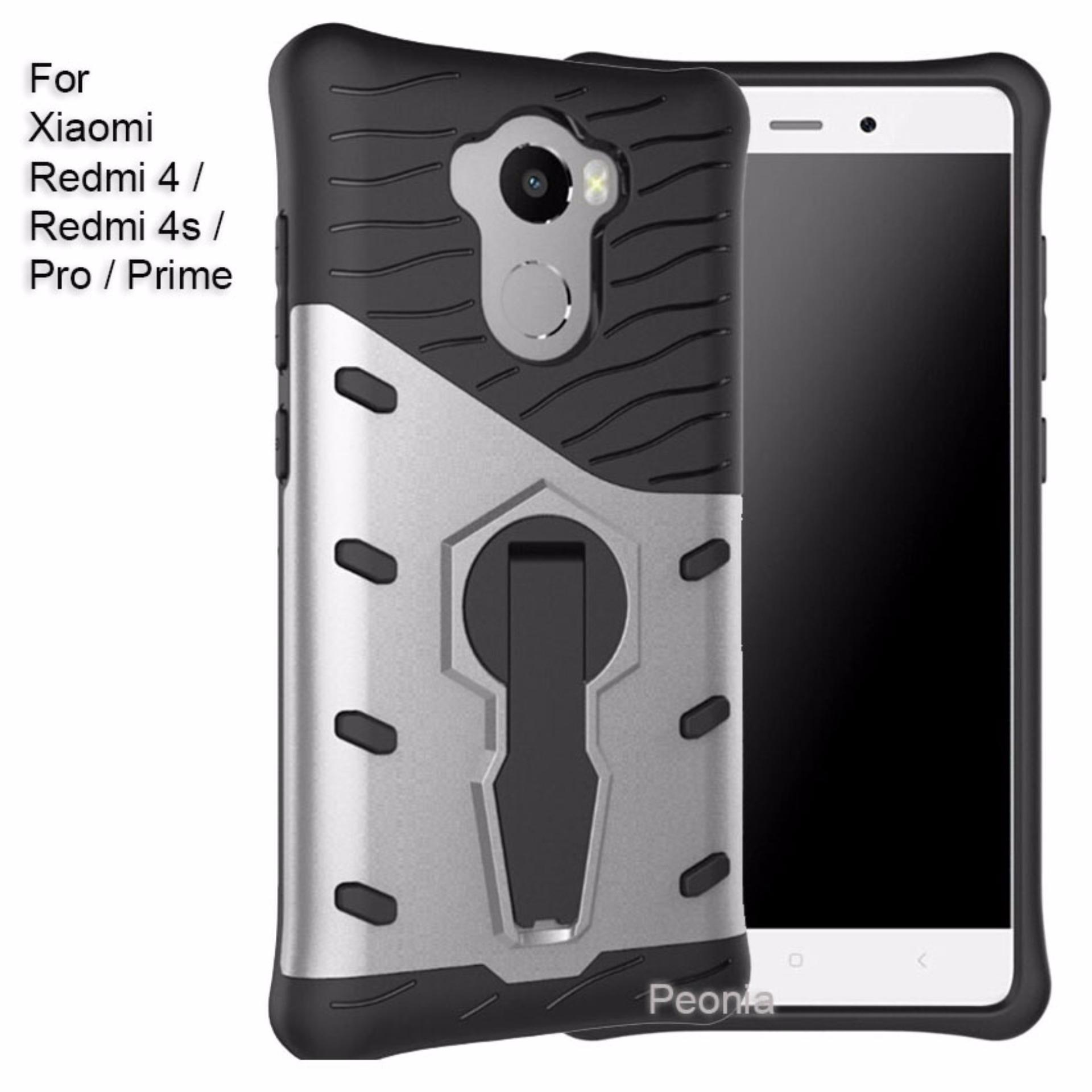 Peonia Sniper 360 Standing Rotary Slim Armor Case For Xiaomi Redmi 4 Tempered Glass Prime Pencari Harga