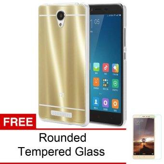 Peonia TPU Mirror Glare Softcase untuk Xiaomi Redmi Note 2 / Pro / Prime - Gold