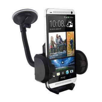 Phone Holder Mobil / Holder Leher Angsa Fleksibel / Untuk HP / GPS- Hitam