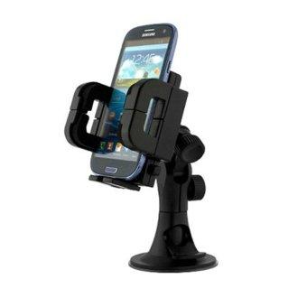 Phone Holder Mobil Untuk HP / GPS - Leher Robot - Hitam