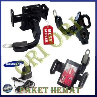 Phone Holder Motor Untuk HP / GPS Phone Holder Jepit untuk Spion motor/ Phone Holder