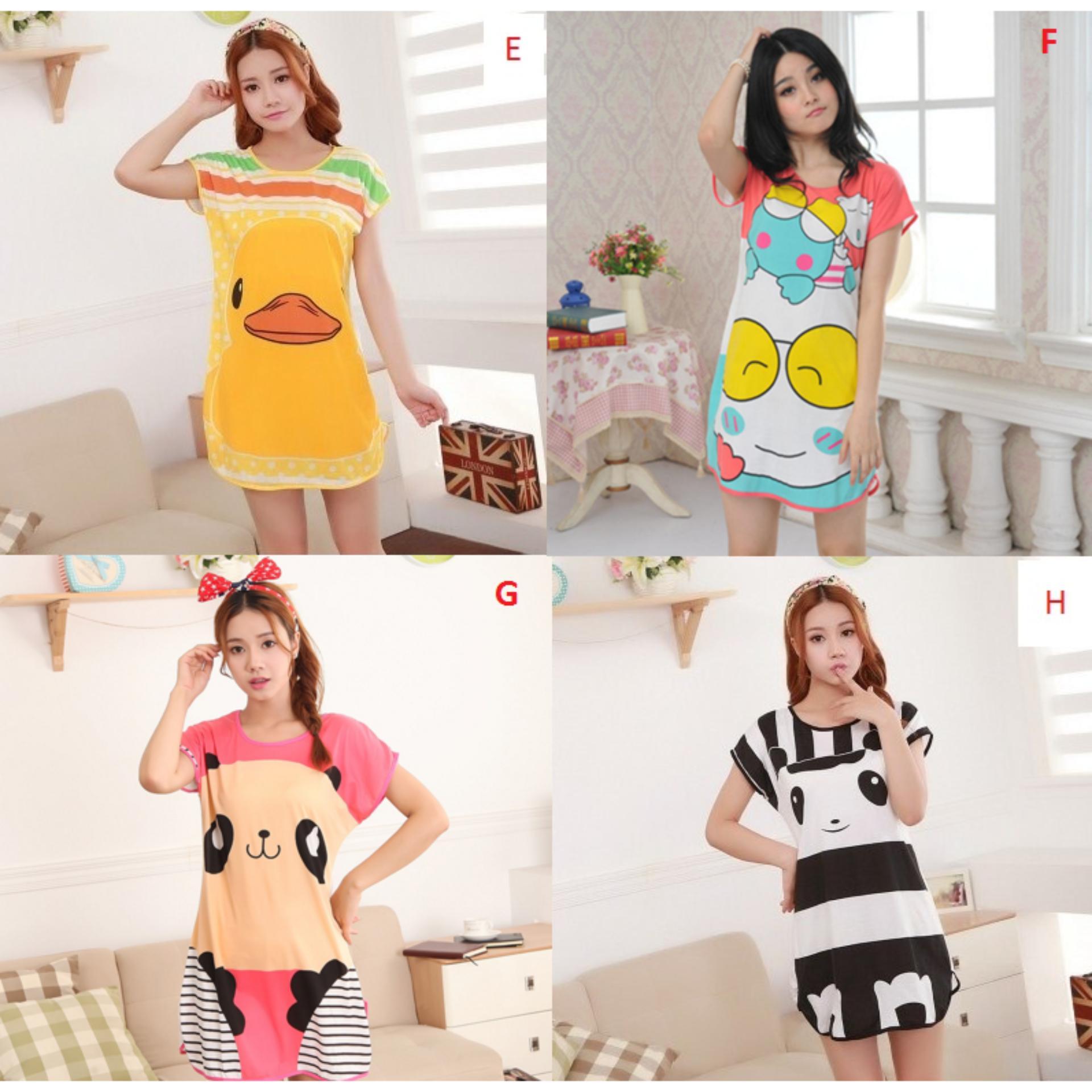 Kehebatan Baju Tidur Satin Piyama Murah Bajutidur Silk Import Pria Korean Style Cewek Motif Daster 5