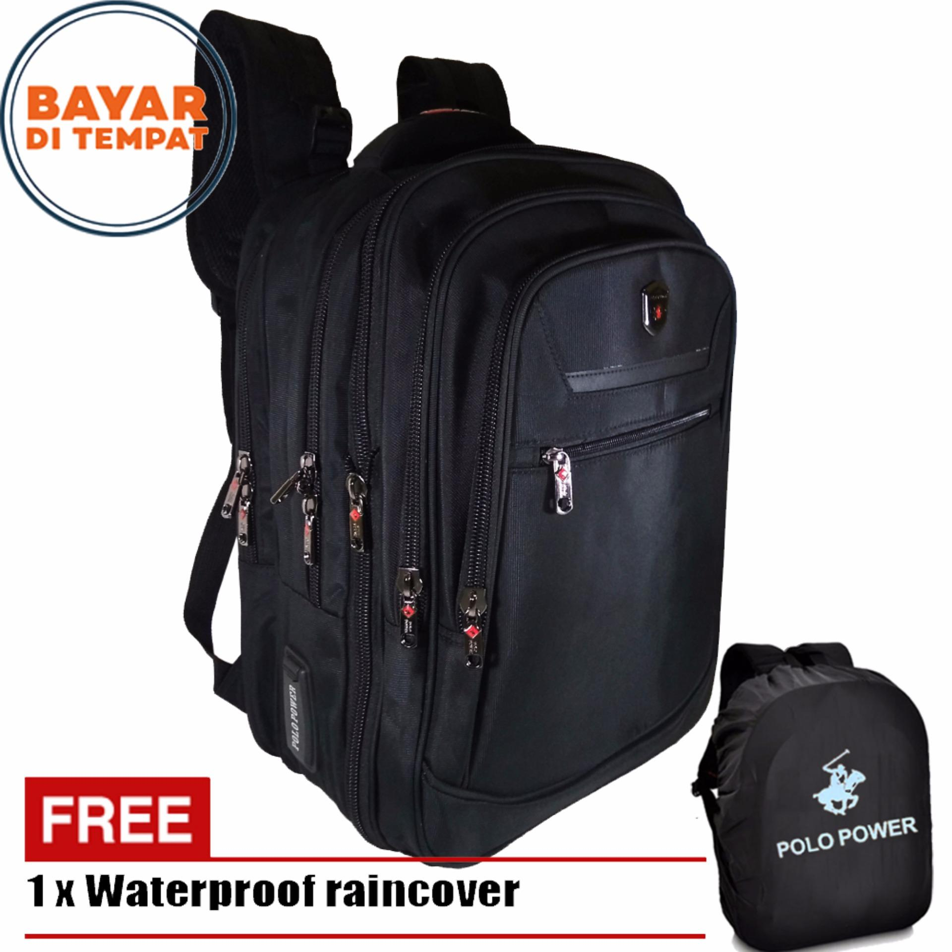 Toko Jual Polo Power Backpack Expandable Import Laptop Compartemen Ransel Milano Tas Pria 18 Inchi 185003 Highest Spec Original