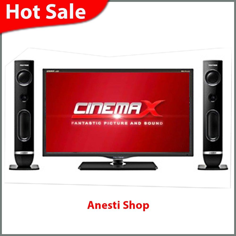 polytron 32″ cinemax  led tv – tv led – usb tv – pld-32t710  + speaker – hitam – khusus jabodetabek + bandung + cimahi
