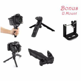 Portable Mini Folding Tripod For DSLR Black Stand Tiga Kaki Kamera Camera Kecil Hitam