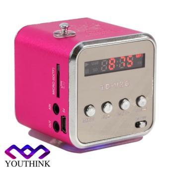 Portable Mini Speaker FM Radio Mendukung Kartu TF dan U disk Rose - intl