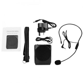 Portable Rechargeable Suara Keras Booster Amplifier Mikrofon Kit Pengajaran Speaker W/Pinggang INGGRIS-Internasional